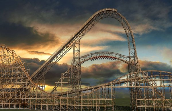 Goliath, Six Flags Great America Theme Park, Gurnee, Illinois, USA