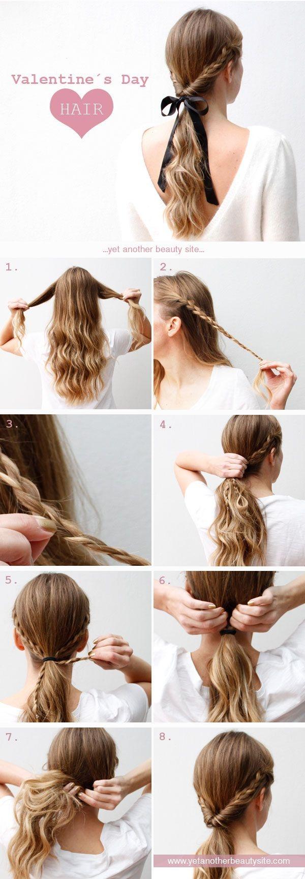 Easy Valentine's Hair