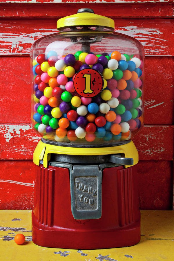 Old-Fashioned Gumball Machine