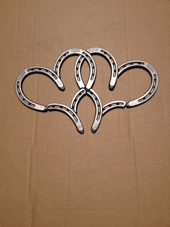 Double Horse Shoe Hearts - 37 Horseshoe Crafts to Try Your Luck…