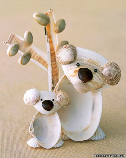 3 seashell friends 6 crafty ideas to share with the for Animals made out of seashells