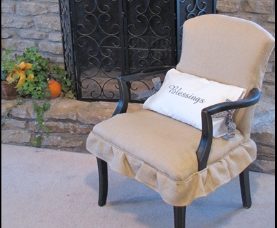 Chair Burlap Re-do