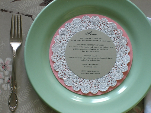 Wedding Menu Place Cards 8 Fun Paper Doily DIY Projects
