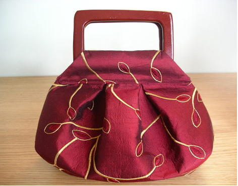 Pleated and Darted Purse