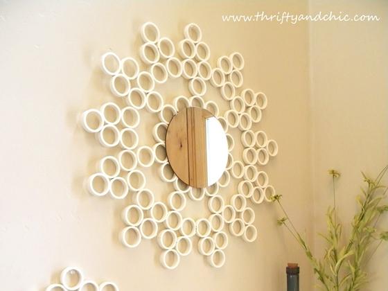 PVC Pipe - 12 Stunning DIY Sunburst Mirrors ... → 🍹 Lifestyle