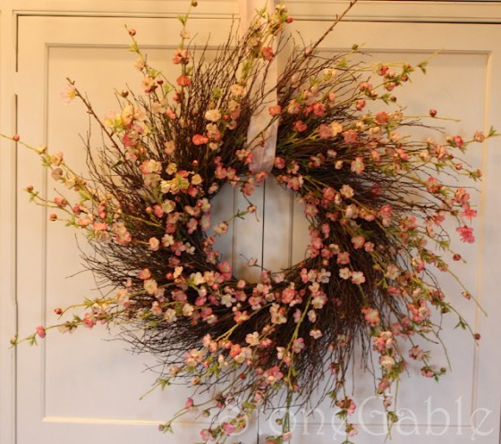 Cherry Blossom 15 Gorgeous Spring Wreath Ideas