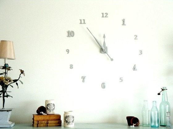 House Numbers 15 Chic and Cool DIY Clocks Lifestyle