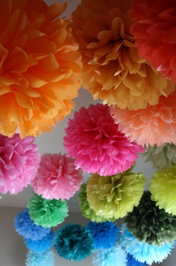 Tissue Paper Pom Poms. Tissue Paper Pom Poms Are Some Of Most Common DIY  Party Decoration Ideas ...