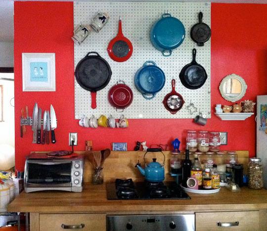 Pegboard Kitchen Storage: 8 Awesome DIY Pot Racks ... Lifestyle