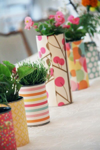 Recycled can centrepieces 8 fabulous diy party for Recycled centerpiece ideas