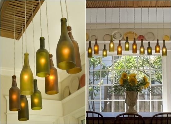 All bottles in a row 8 gorgeous diy wine bottle lighting for Wine bottle light ideas