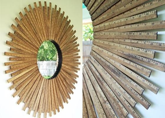Sunburst mirror 14 diy yardstick upcycling projects that for Diy upcycling projects