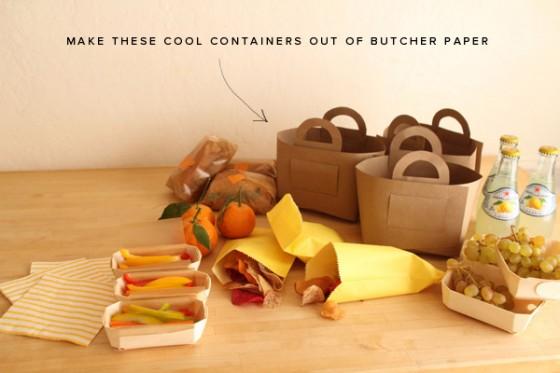 Butcher Paper Picnic Basket