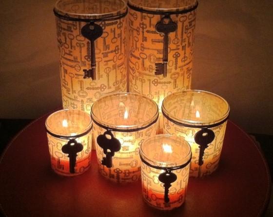 Candle Holder 10 Stunning Diy Skeleton Key Home Decor