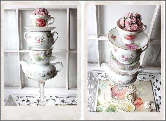 Layered Flower Pots Layered Tea Cups And Pots