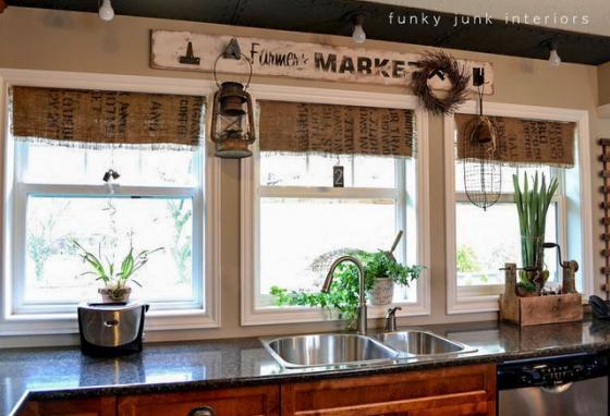 Creative Kitchen Window Treatments Hgtv Pictures Ideas: 12 Creative Ways To Repurpose Coffee Sacks
