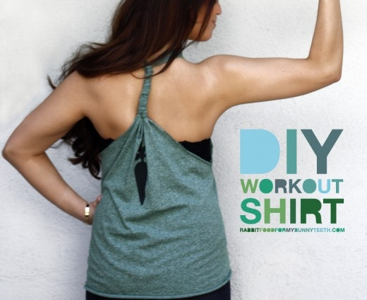 workout shirt 12 diy projects for working out. Black Bedroom Furniture Sets. Home Design Ideas