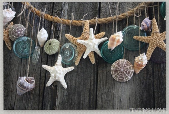 Garland 10 beautiful diy shell decor projects for Shell diy