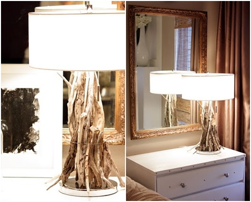 lamp 12 darling diy driftwood crafts lifestyle. Black Bedroom Furniture Sets. Home Design Ideas