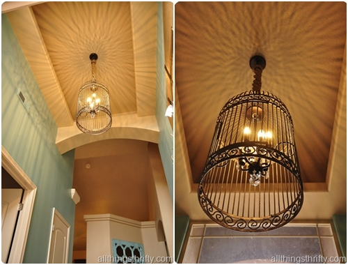 Chandelier 10 beautiful birdcage craft projects for Chandelier craft ideas