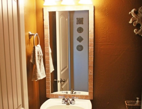 Another Amazing Bathroom Mirror Transformation! · One Good