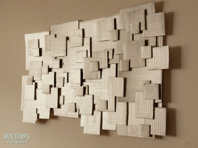 Wall Art 10 Clever Ways To Upcycle Cardboard