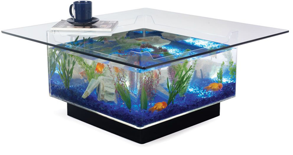 Aquarium Coffee Table - 7 Unique Items of Home Decor for Pets ...