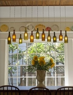 Swap Chandeliers For Wine Bottles