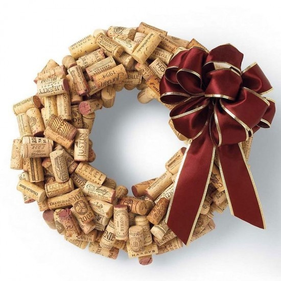 Turn Wine Corks Into A Wreath