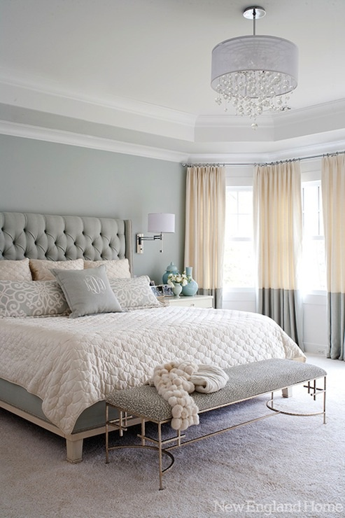 soft grays whites - Calming Bedroom Color Schemes