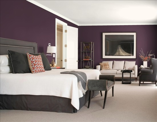 Purple Gray Bedroom