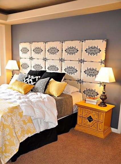. black  yellow   gorgeous bedroom color schemes  → 🍹…, Bedroom decor
