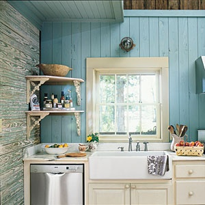 Country Blue Kitchen Kitchens Lifestyle