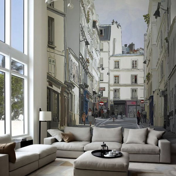 montmartre paris wall mural. Black Bedroom Furniture Sets. Home Design Ideas