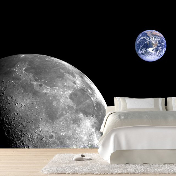 moon and earth wall mural 7 cool wall murals to add to your moon wall mural decal space wall decal murals primedecals