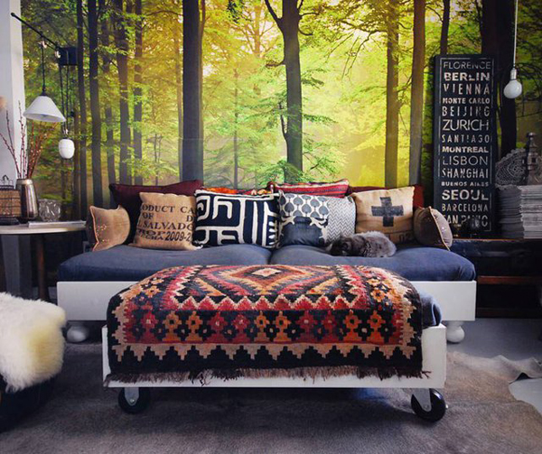 autumn forest wall mural - 7 cool wall murals to add to your…