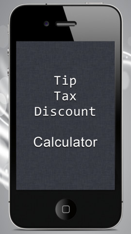 Tip Tax Discount Calculator