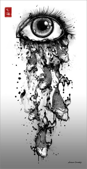 Image result for Black and White Ink Art