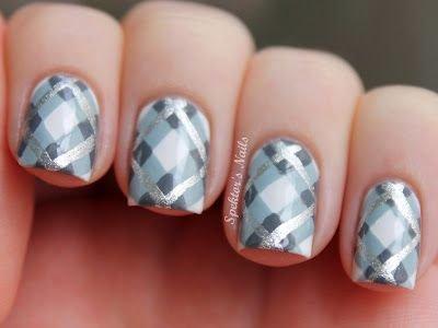 Silver and grey plaid nails 39 awesome plaid nail art designs silver and grey plaid nails prinsesfo Choice Image