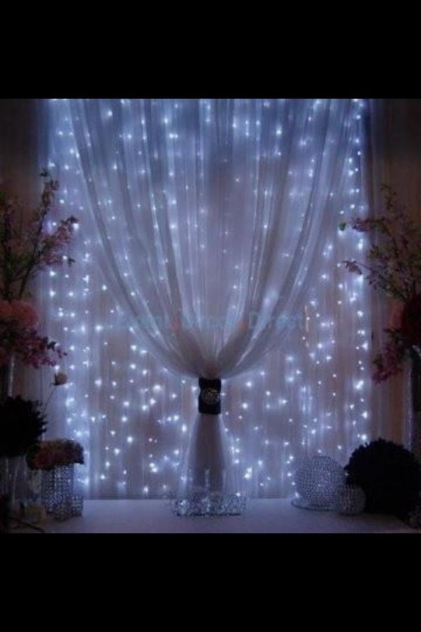 ... Mini Lights behind Sheer Fabric - 22 Curtains for Any Room in Your