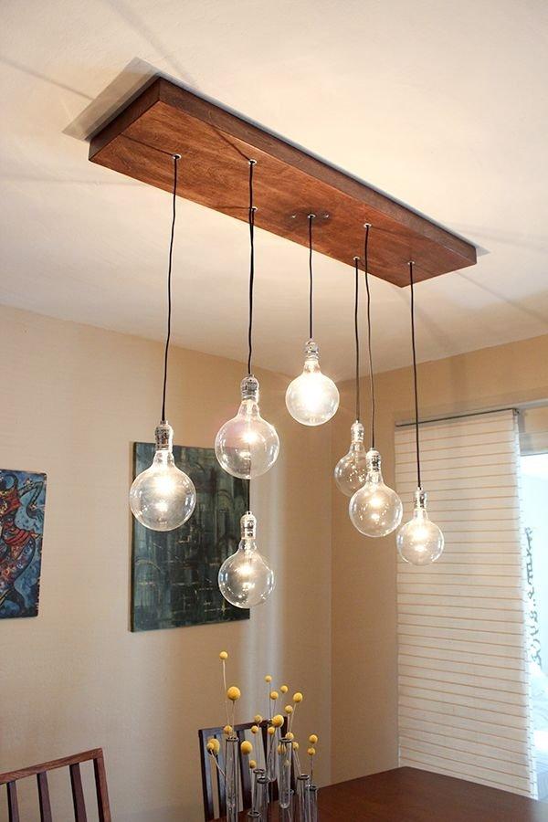 Rustic chandelier 34 diy chandeliers to light up your - Diy ceiling light fixtures ...