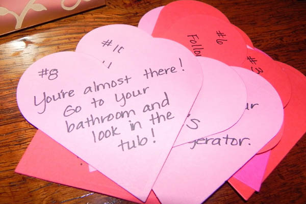 Scavenger Hunt 15 Cute Ideas To Remind Your Partner You