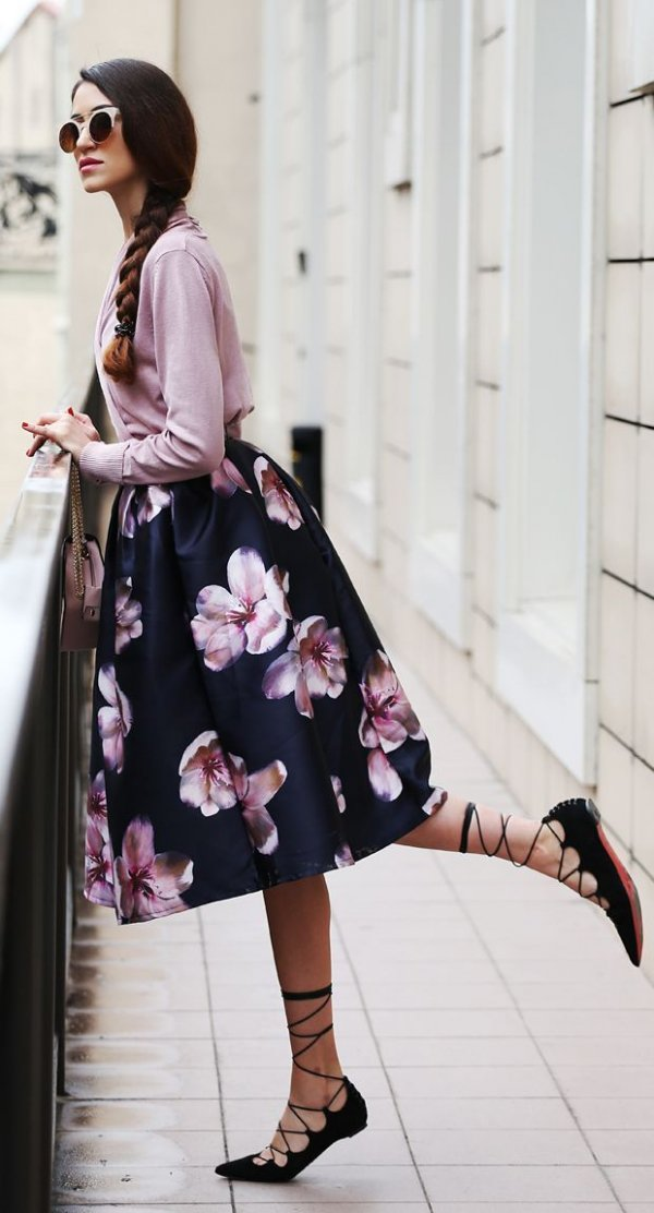 Dramatic Floral Skirt