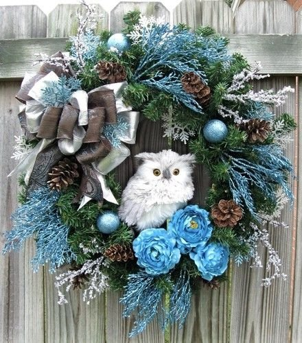 Owl Wreath 31 Front Door Worthy Winter Wreaths You Are