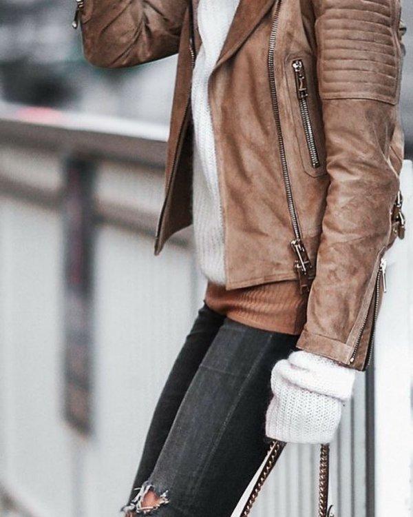 jacket, leather jacket, leather, coat, shoulder,