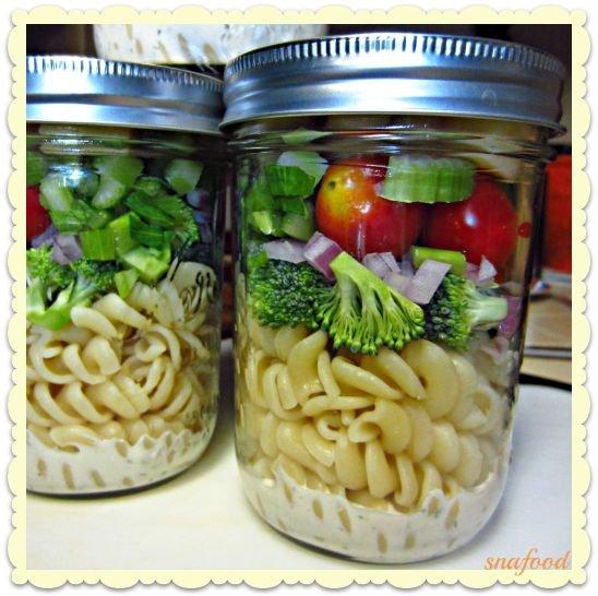 Ranch Rotini Mason Jar Salad