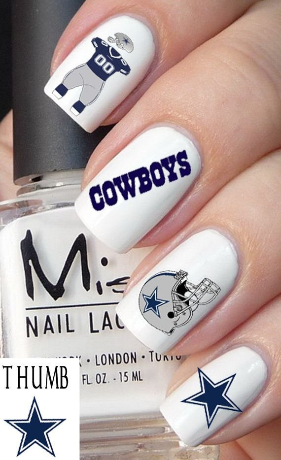 Dallas Cowboys - 36 Sports Nail Art Ideas That Will Make You Ready ...
