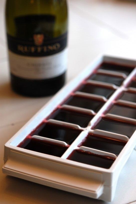 And Finally, if You're a Lightweight Who Can't Finish a Bottle of Wine, Freeze the Leftovers in an Ice Cube Tray