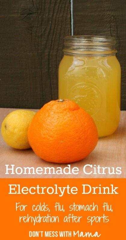 Assez maison d'électrolyte agrumes boisson pour les rhumes, la grippe,… SO41