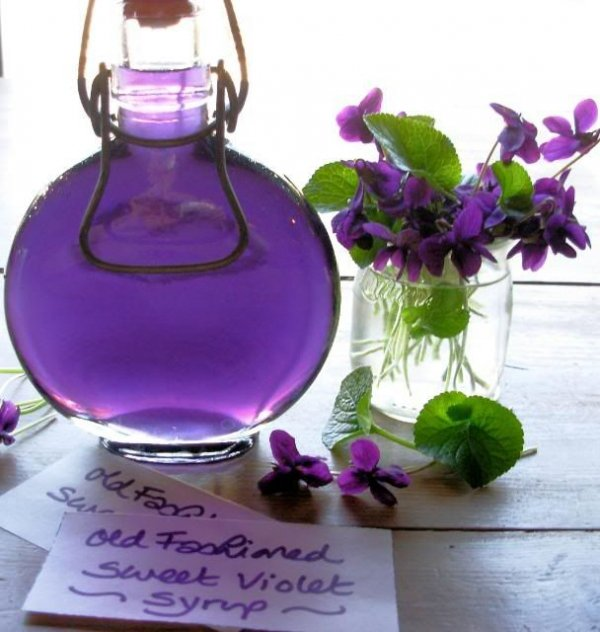 22. Old Fashioned Sweet Violet Syrup - 41 Stunning Edible Flower…